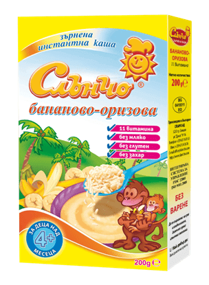 Picture of БЕЗМЛЕЧНА КАША СЛЪНЧО С БАНАН И ОРИЗ 200ГР