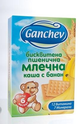 Снимка на БИСКВИТЕНА КАША С БАНАН ГАНЧЕВ 200 ГР - ЦЕНА ЗА БР.