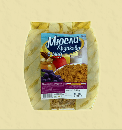 Picture of ХРУПКАВО МЮСЛИ С МЕД РАДИКОМ 350 ГР - ЦЕНА ЗА БР.