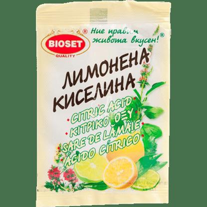 Снимка на ЛИМОНЕНА КИСЕЛИНА БИОСЕТ 10ГР*25*20