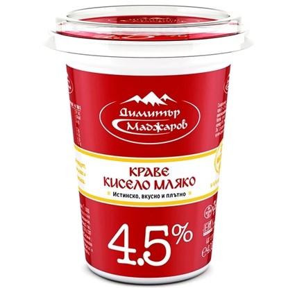 Снимка на КИСЕЛО МЛЯКО МАДЖАРОВ 4,5 % - ЦЕНА ЗА БР.
