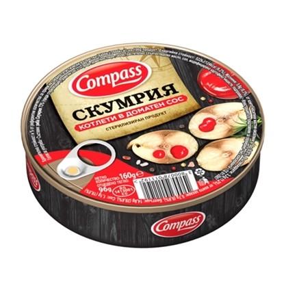 Picture of СКУМРИЯ КОТЛЕТИ КОМПАС 160ГР. В ДОМАТЕН  СОС