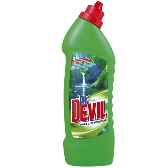 Picture of ПРЕПАРАТ ЗА ТОАЛЕТНА DR.DEVIL 750МЛ. NATUR FRESH 3in1