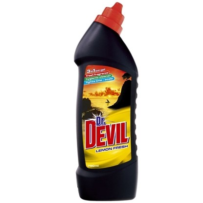 Picture of ПРЕПАРАТ ЗА ТОАЛЕТНА DR.DEVIL 750МЛ. LEMON 3in1