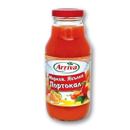 Снимка на СОК АРИВА ПОРТОКАЛ, МОРКОВ И ЯБЪЛКА 330МЛ.*15БР.