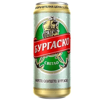 Picture of БИРА БУРГАСКО СВЕТЛО 500МЛ.*12БР. КЕН